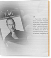 Steve Jobs 2 Wood Print by Anthony Rego