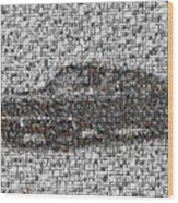 Steve Mcqueen Bullit Mosaic Wood Print