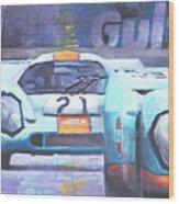 Steve Mcqueen Le Mans Porsche 917 01 Wood Print