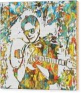 Steve Vai Paint Splatter Wood Print