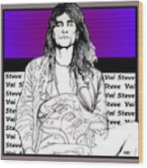 Steve Vai Sitting Wood Print