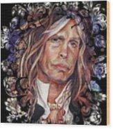 Steven Tyler Aerosmith Wood Print