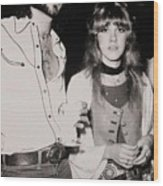Stevie Nicks And Lindsey Buckingham Wood Print