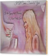 Stevie Nicks - Gypsy Wood Print