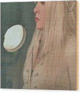 Stevie Nicks In Profile Wood Print