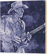 Stevie Ray Vaughan - 02 Wood Print