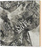 Stevie Ray Vaughan - 03 Wood Print