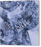 Stevie Ray Vaughan - 04 Wood Print