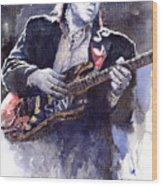 Stevie Ray Vaughan 1 Wood Print