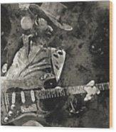 Stevie Ray Vaughan - 13  Wood Print