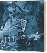 Stevie Ray Vaughan - 14 Wood Print