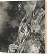 Stevie Ray Vaughan - 15 Wood Print