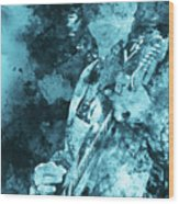 Stevie Ray Vaughan - 16 Wood Print