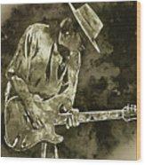 Stevie Ray Vaughan - 19 Wood Print