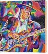 Stevie Ray Vaughan Wood Print by David Lloyd Glover