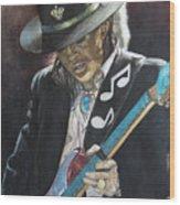 Stevie Ray Vaughan  Wood Print by Lance Gebhardt