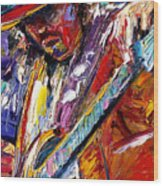 Stevie Ray Vaughan Number One Wood Print