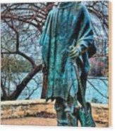Stevie Ray Vaughan Vibrant Colors Wood Print