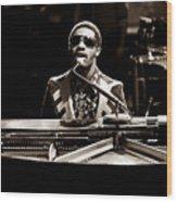 Stevie Wonder Softer Gentle Mood - Sepia Wood Print