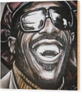 Stevie Wonder Wood Print