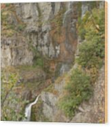 Stewart Falls In Autumn Wood Print