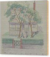 Stewart House Wood Print