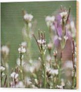 Stick Flower Wood Print