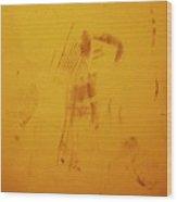 Stick Man Wood Print