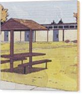 Sticker Landscape 1 Schoolyard Wood Print