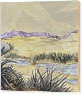 Sticker Landscape 3 Desert Wood Print