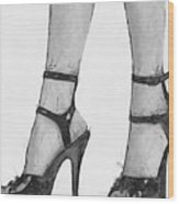 Stiletto Wood Print