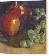 Still Apples Wood Print