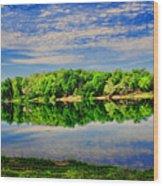 Still Lake Wood Print