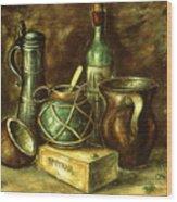Still Life 72 - Oil On Wood Wood Print