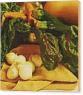 Still Life And Then Dinner Wood Print
