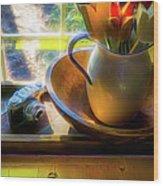Still Life By Window Wood Print