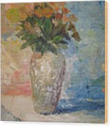 Still Life Flowers Wood Print