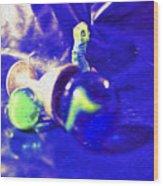 Still Life In Blue Wood Print
