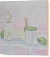Still Life Kitchen Table Wood Print