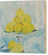 Still Life - Lemons Wood Print