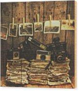 Still Life Nostalgia Wood Print