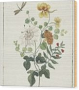 Still Life Of Flowers, Machtelt Moninckx, C. 1600 - C. 1687 Wood Print