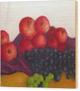 Still Life Of Fruit Wood Print