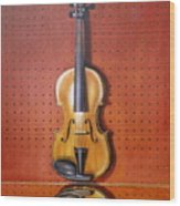 Still Life Of Violin Wood Print