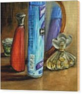 Still Life Oil Painting Wood Print