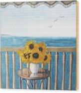 Still Life On A Patio Wood Print