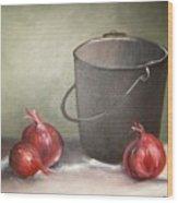 Still life onions Wood Print