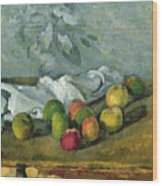 Still Life Wood Print by Paul Cezanne