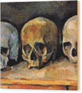 Still Life, Three Skulls Wood Print
