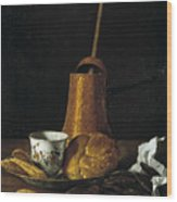 Still Life With A Chocolate Service Wood Print
